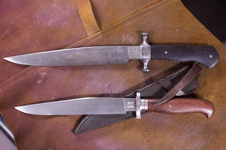 Some of the knives J.D. Smith has made.